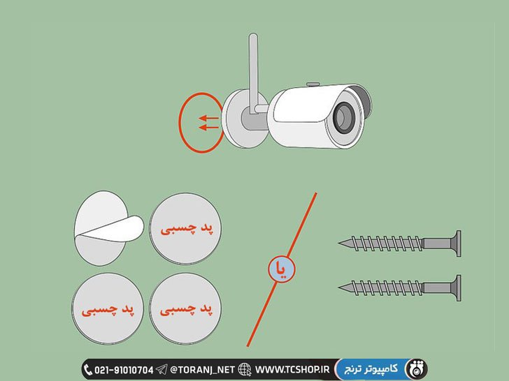 پد چسبنده برای اتصال دوربین