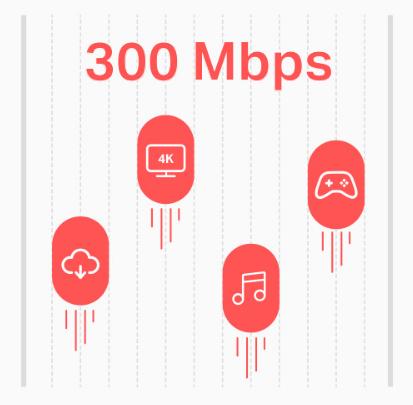 سرعت 300Mbps