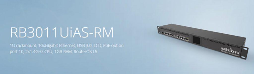روتر شبکه 10 پورت میکروتیک مدل RB3011UiAS-RM