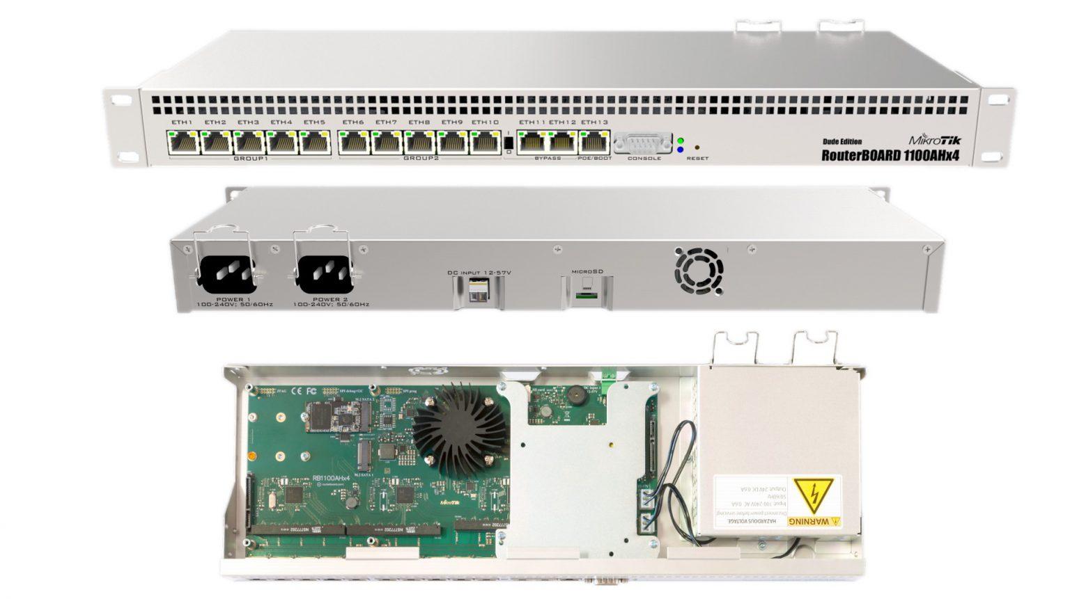 روتر 13 پورت میکروتیک مدل RB1100AHx4 Dude Edition