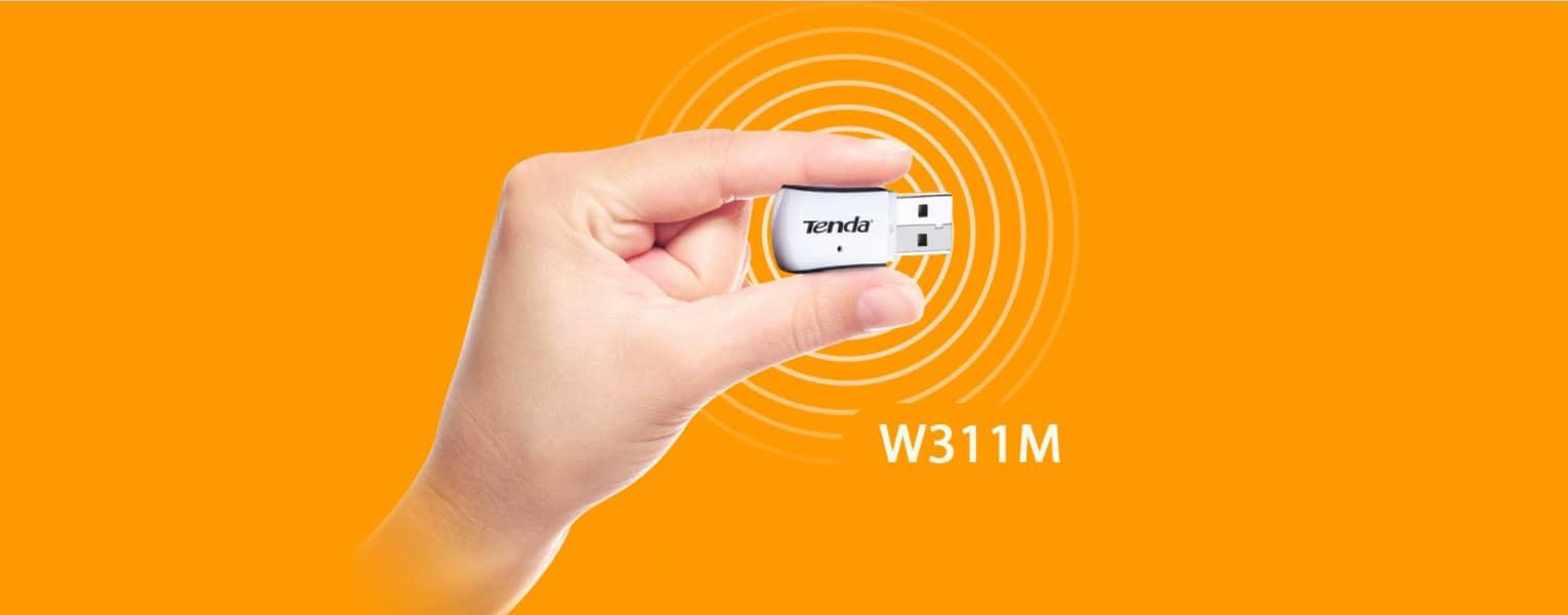 کارت شبکه USB بی سیم N150 تندا W311M