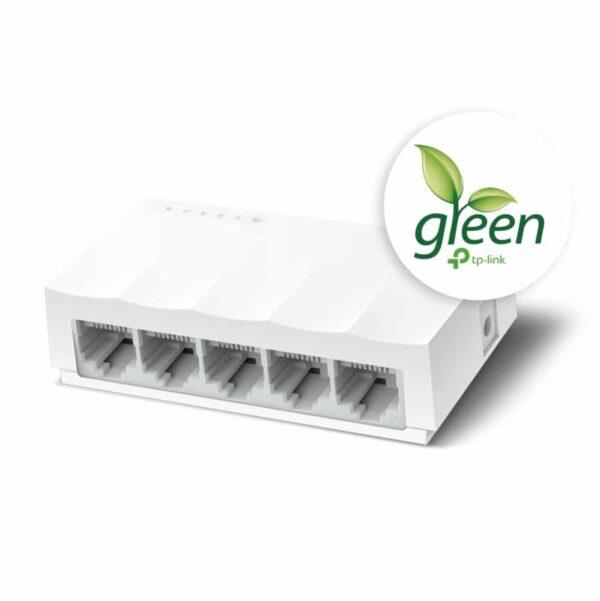 سوئیچ تی پی لینک LS1005 فناوری سبز