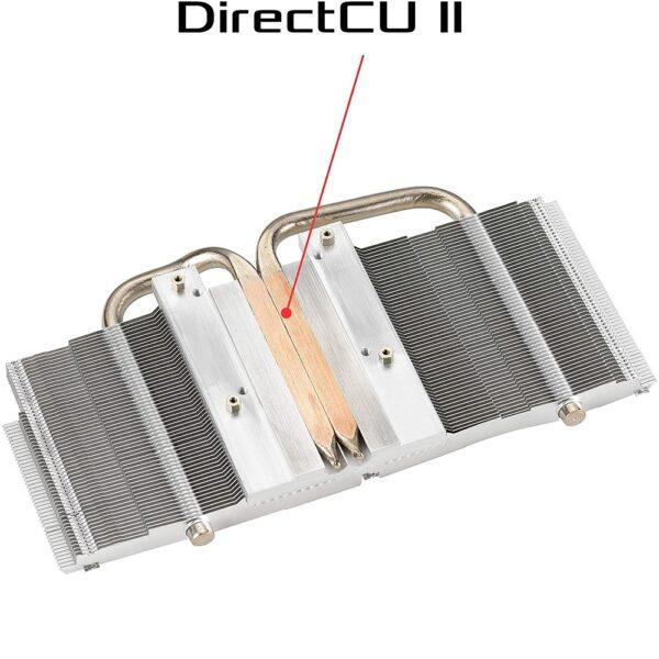 فناوری DirectCU II برای خنک کنندگی بهتر