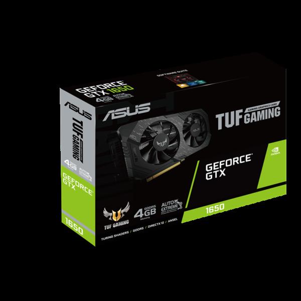بسته بندی کارت گرافیک ایسوس گیمینگ TUF-GTX1650-4G-GAMING